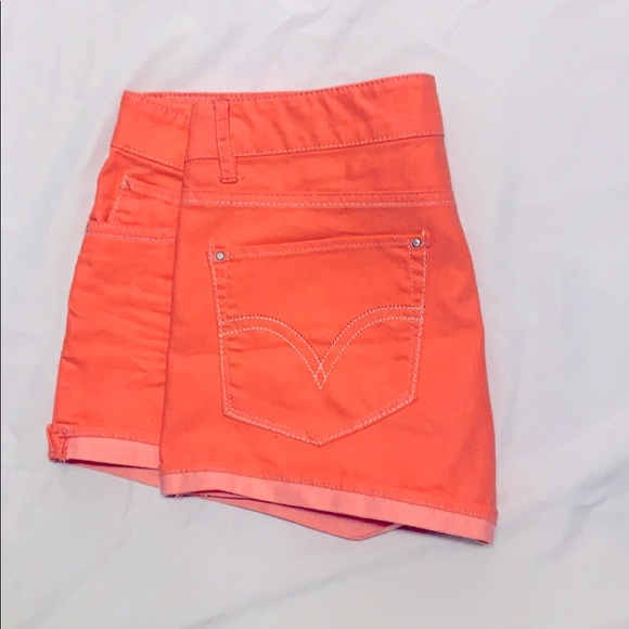 Levi's Shorty Shorts Size 15 Neon Coral